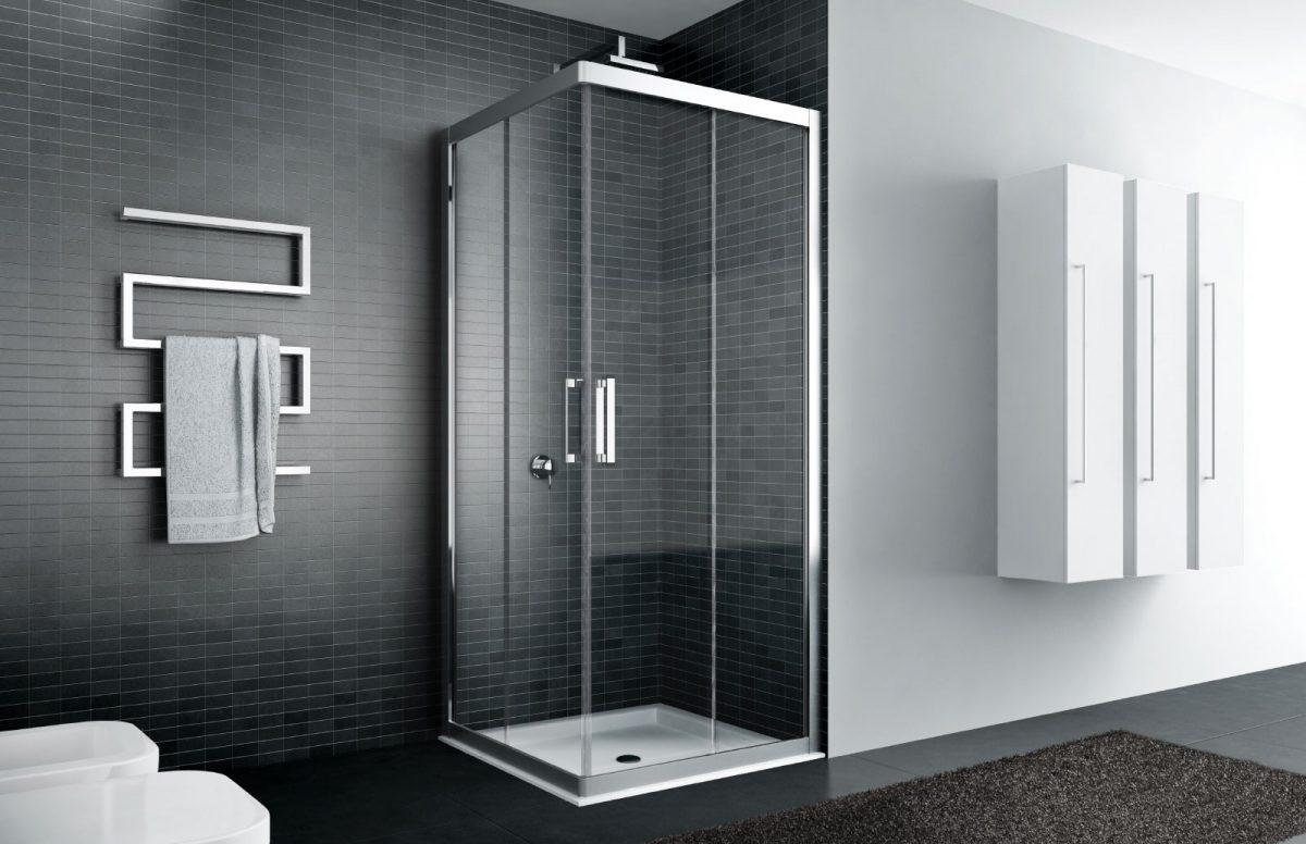 Quadro box doccia con telaio disenia - Doccia senza porta ...