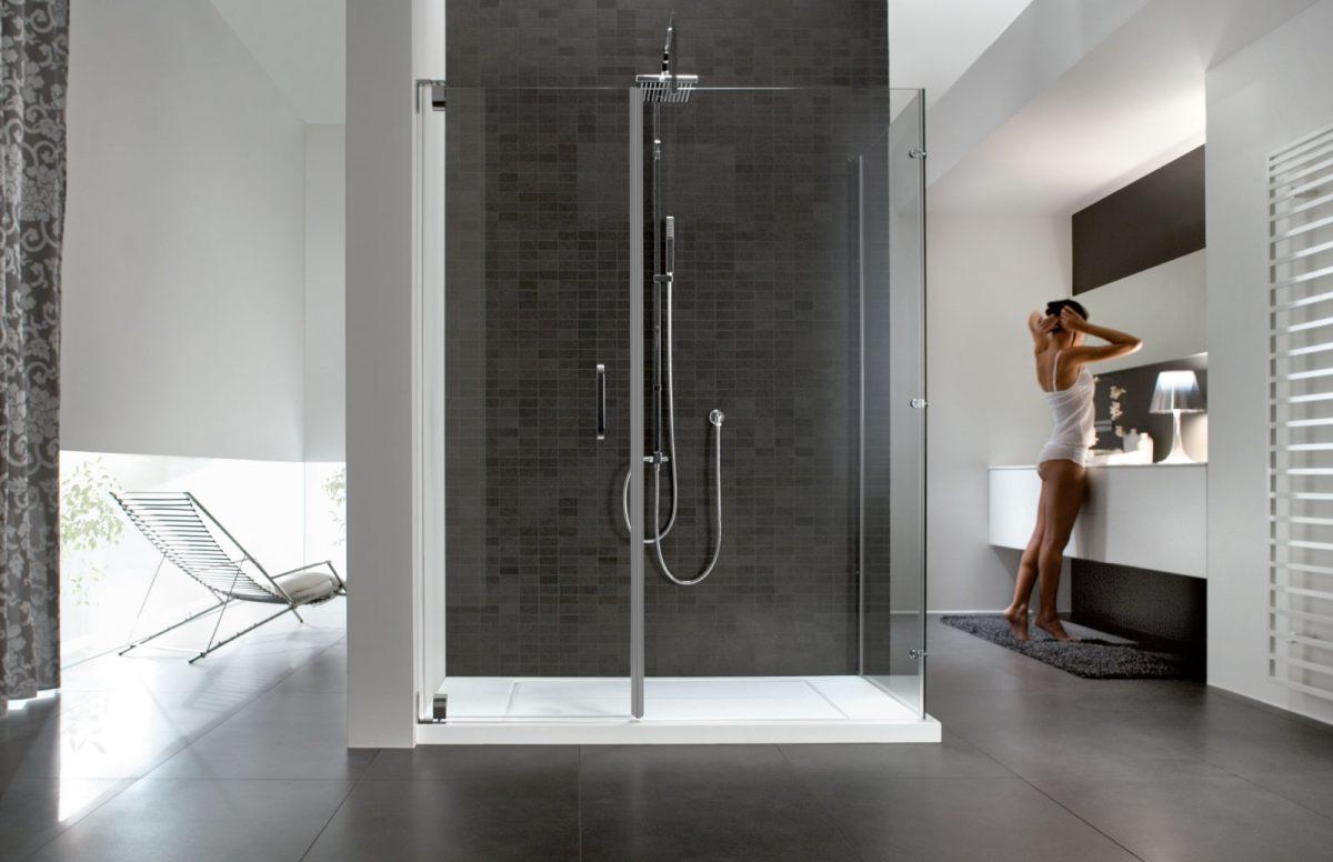 Hand box doccia in cristallo disenia - Chiusura doccia scorrevole ...