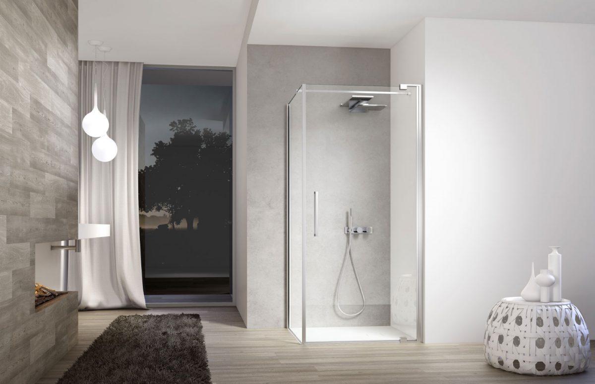 Slim doccia di design disenia - Box doccia design minimale ...