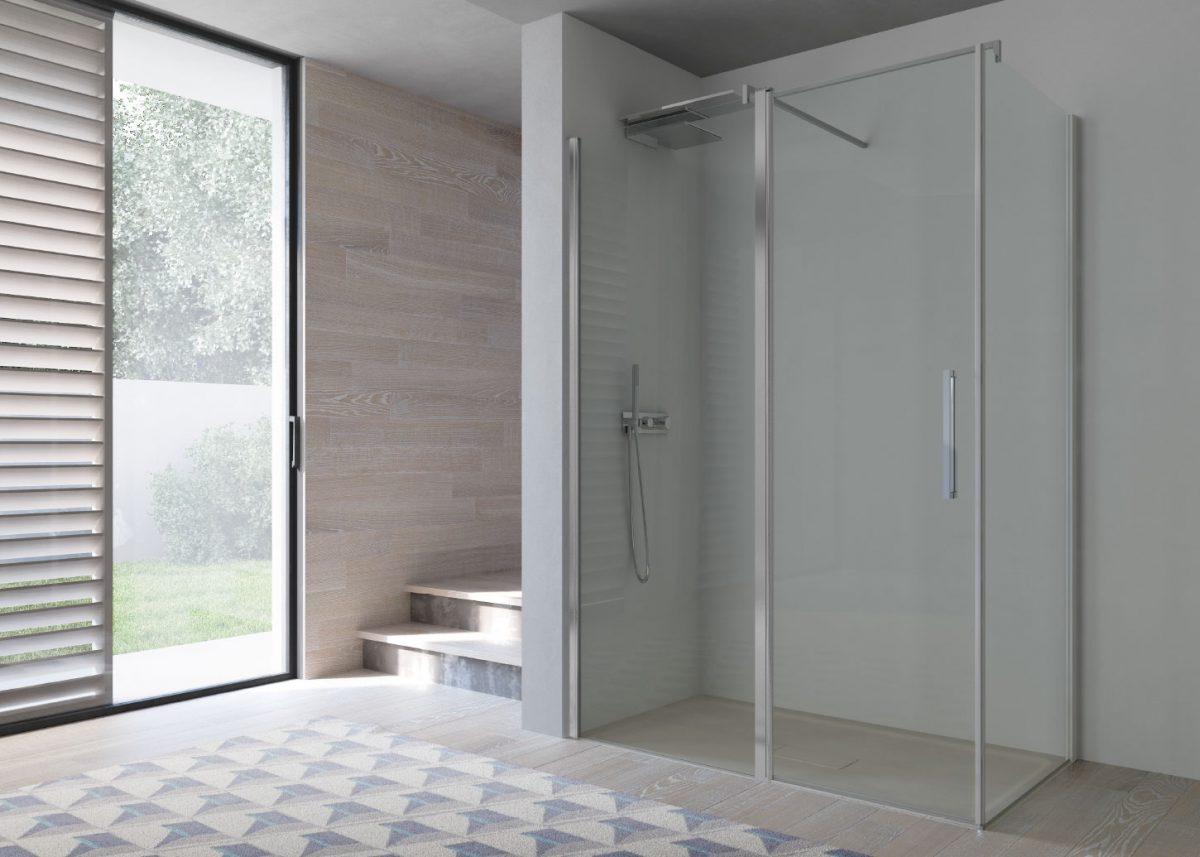 Omega box doccia in nicchia disenia - Box doccia design minimale ...