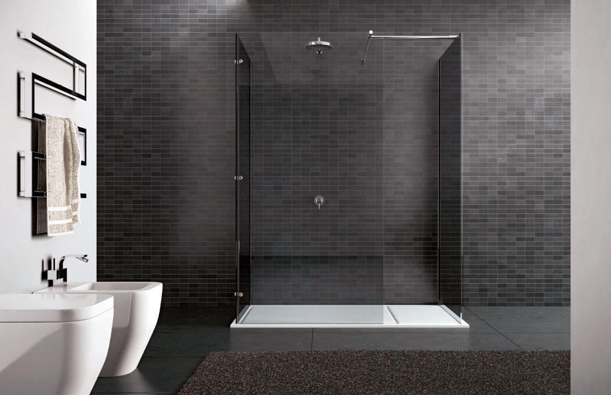 Walk in box doccia senza profili disenia - Doccia senza piatto doccia ...