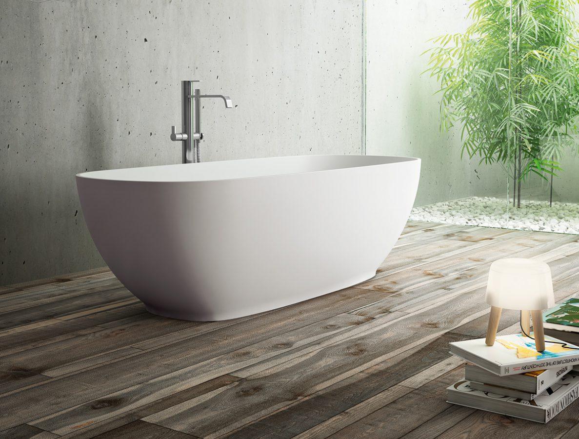 Oval vasca da bagno ovale disenia - Vasca da bagno grigia ...