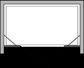 CNPL + CNFL : Porta battente con lato fisso (componibile in linea)