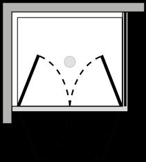 FR2P + FRFI : Porta doppio battente con lato fisso (componibile ad angolo)