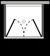 FR2P + FRFIX2 : Porta doppio battente con 2 lati fissi (componibile ad angolo)