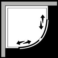 FRSC : Semicircolare 2 scorrevoli (componibile)