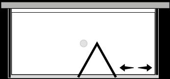 FRSFL + FRFIX2 : Porta a soffietto con fisso e 2 lati fissi (componibile ad angolo)