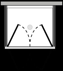 LB2P + LKFIX2 : Porta doppio battente con 2 lati fissi (componibile ad angolo)