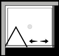 LKSF + LKFI : Porta a soffietto con lato fisso (componibile ad angolo)