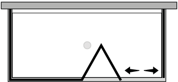 LKSFL + LKFIX2 : Porta a soffietto con fisso e 2 lati fissi (componibile ad angolo)