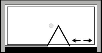 LKSFL : Porta a soffietto con fisso (in nicchia)
