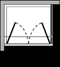 OM2P + OMFX : Porta doppio battente con lato fisso (componibile ad angolo)