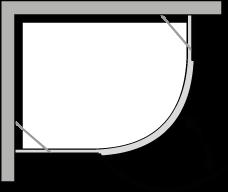 QBCL : Semicircolare una porta battente per piatto r.38