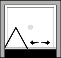 QUSF : Porta a soffietto (in nicchia)
