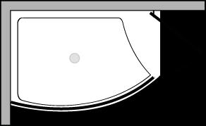 VLPTS + VLFI + VLPO48 : Piatto doccia l.113 con vetro fisso e porta