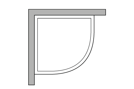 Angolare semicircolare