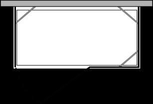 CNPOX + CNFI : Doppio lato fisso c/porta e fisso (componibile ad angolo)