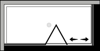 FRSFL + FRFI : Porta a soffietto con fisso e lato fisso (componibile ad angolo)