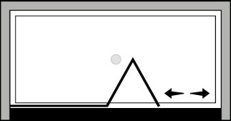 FRSFL : Porta a soffietto con fisso (in nicchia)