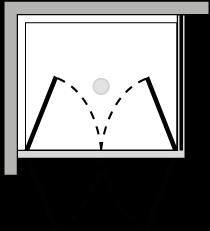 LB2P + LKFI : Porta doppio battente con lato fisso (componibile ad angolo)