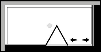 LKSFL + LKFI : Porta a soffietto con fisso e lato fisso (componibile ad angolo)