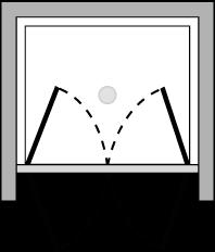 OM2P : Porta doppio battente (in nicchia)