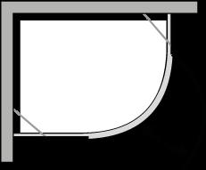 QBCC : Semicircolare una porta battente per piatto r.38