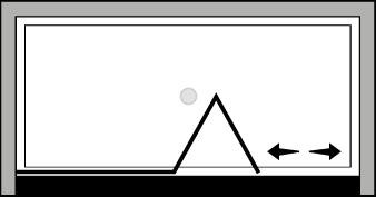QUSFL : Porta a soffietto con fisso (in nicchia)