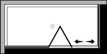 QUSFL + QUFI : Porta a soffietto con fisso e lato fisso (componibile ad angolo)