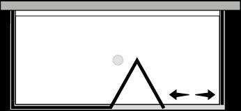 QUSFL + QUFIX2 : Porta a soffietto con fisso e 2 lati fissi (componibile ad angolo)