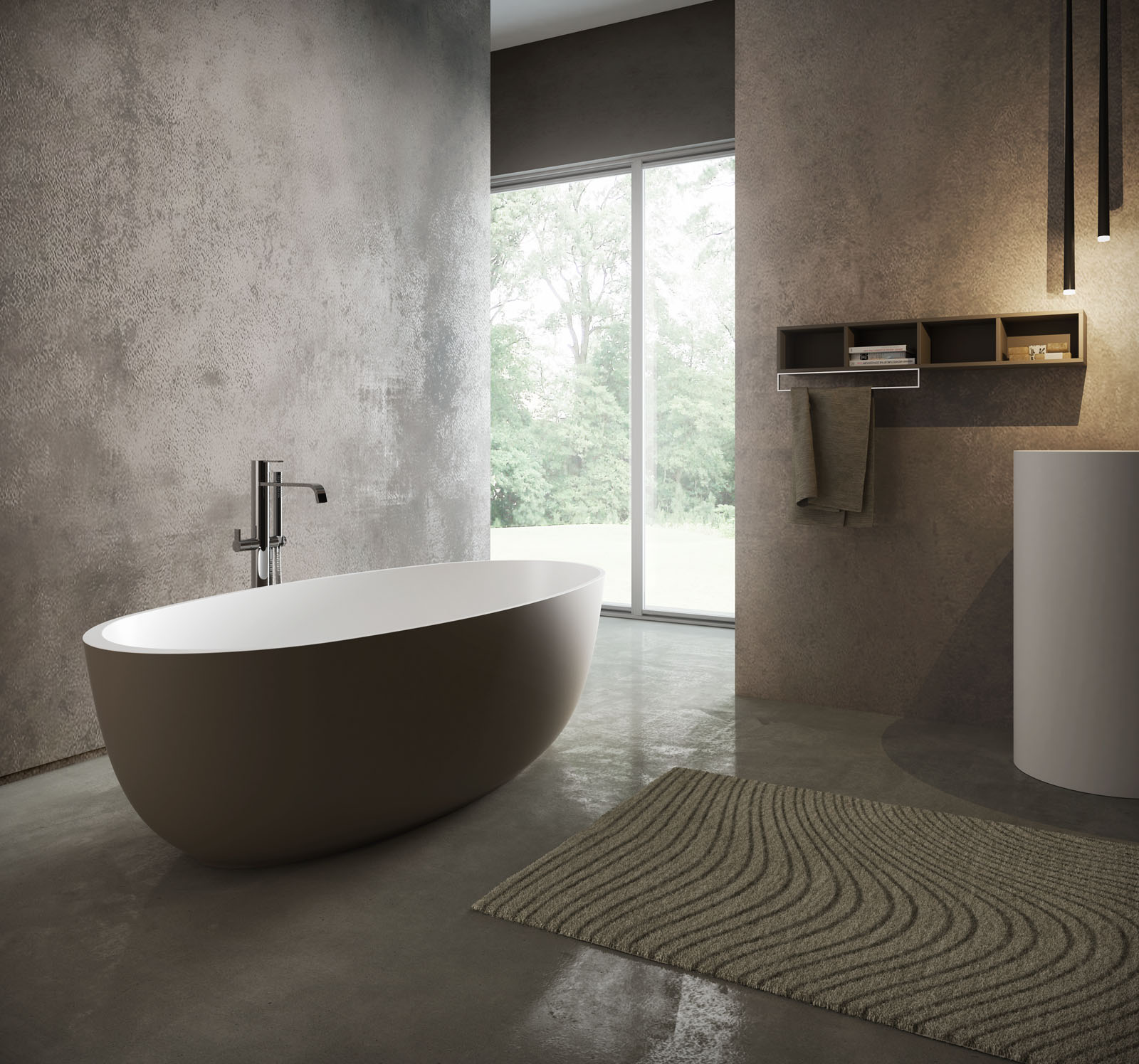 Round vasca da bagno moderna disenia for Vasca da bagno moderna