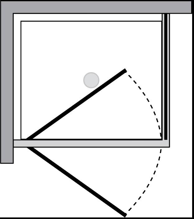 QT1P+QTFI : Porta battente c/lato fisso (ad angolo)