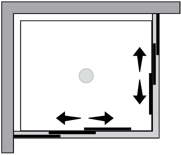 QT2S+QT2S : Porta 4 ante scorrevoli (ad angolo)