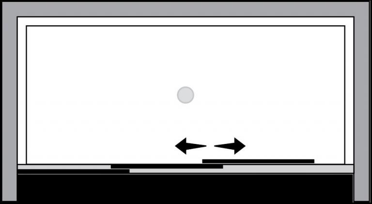 QTS2N : Porta 2 ante scorrevoli (in nicchia)